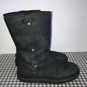 UGG boots leather black size 6 EU 37